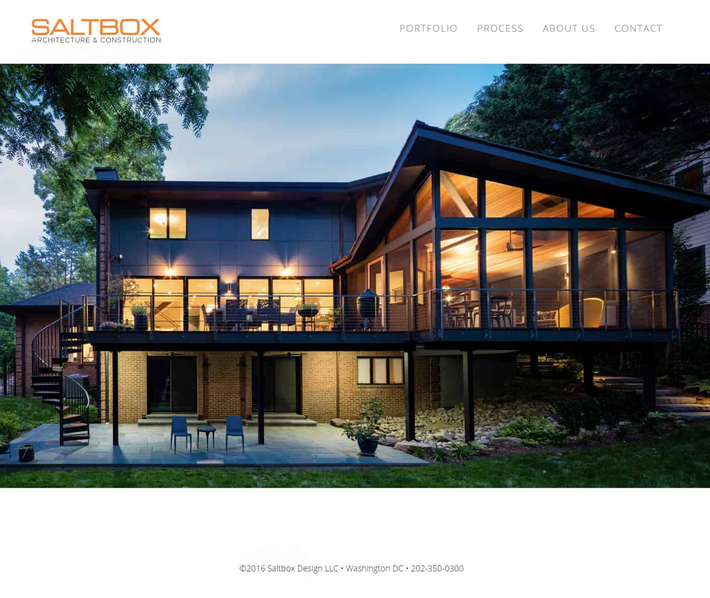 Saltbox Design website