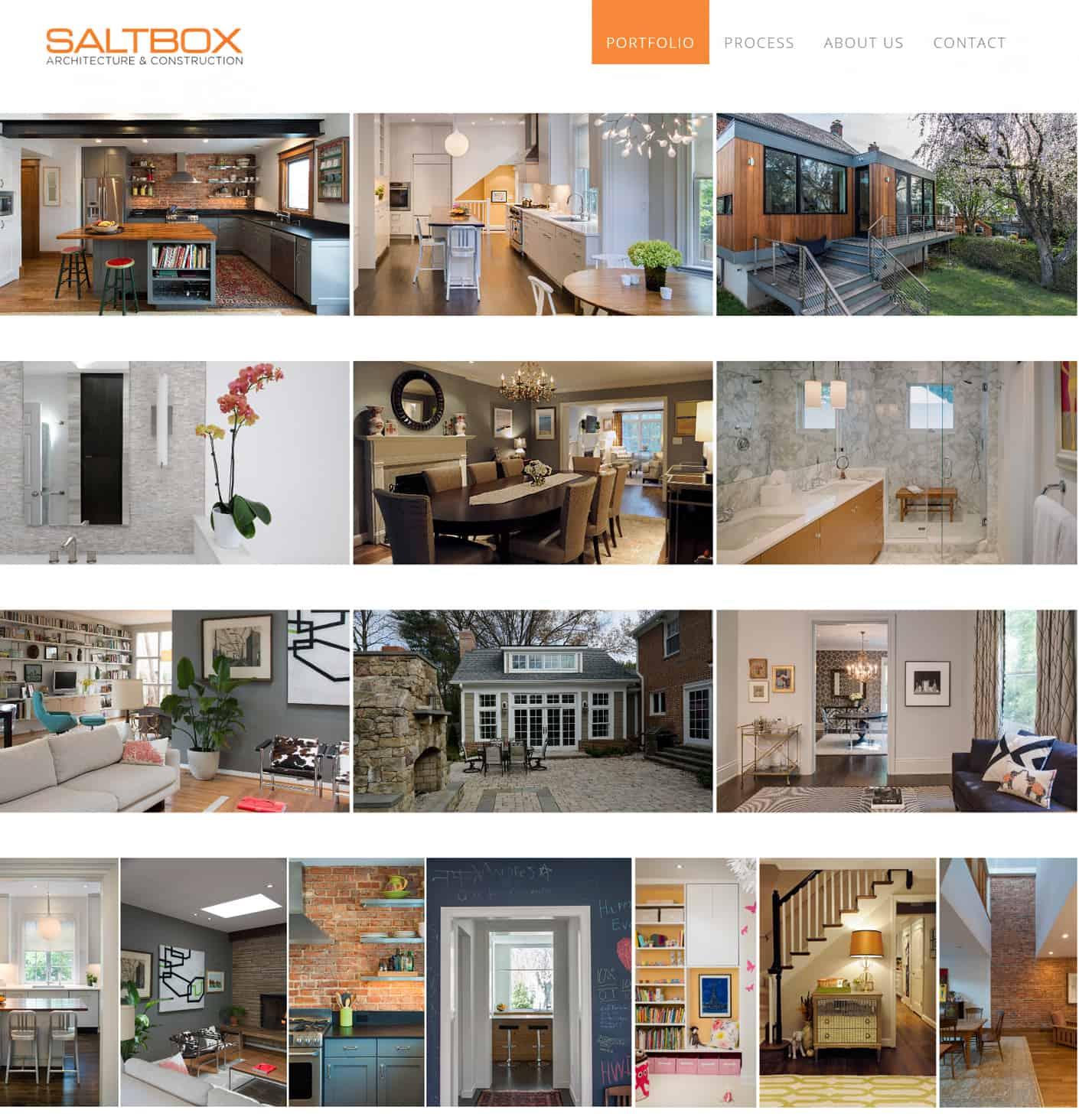 Architextural design portfolio website page