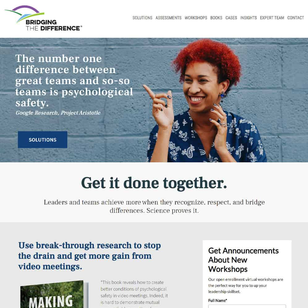Bridging the Difference website
